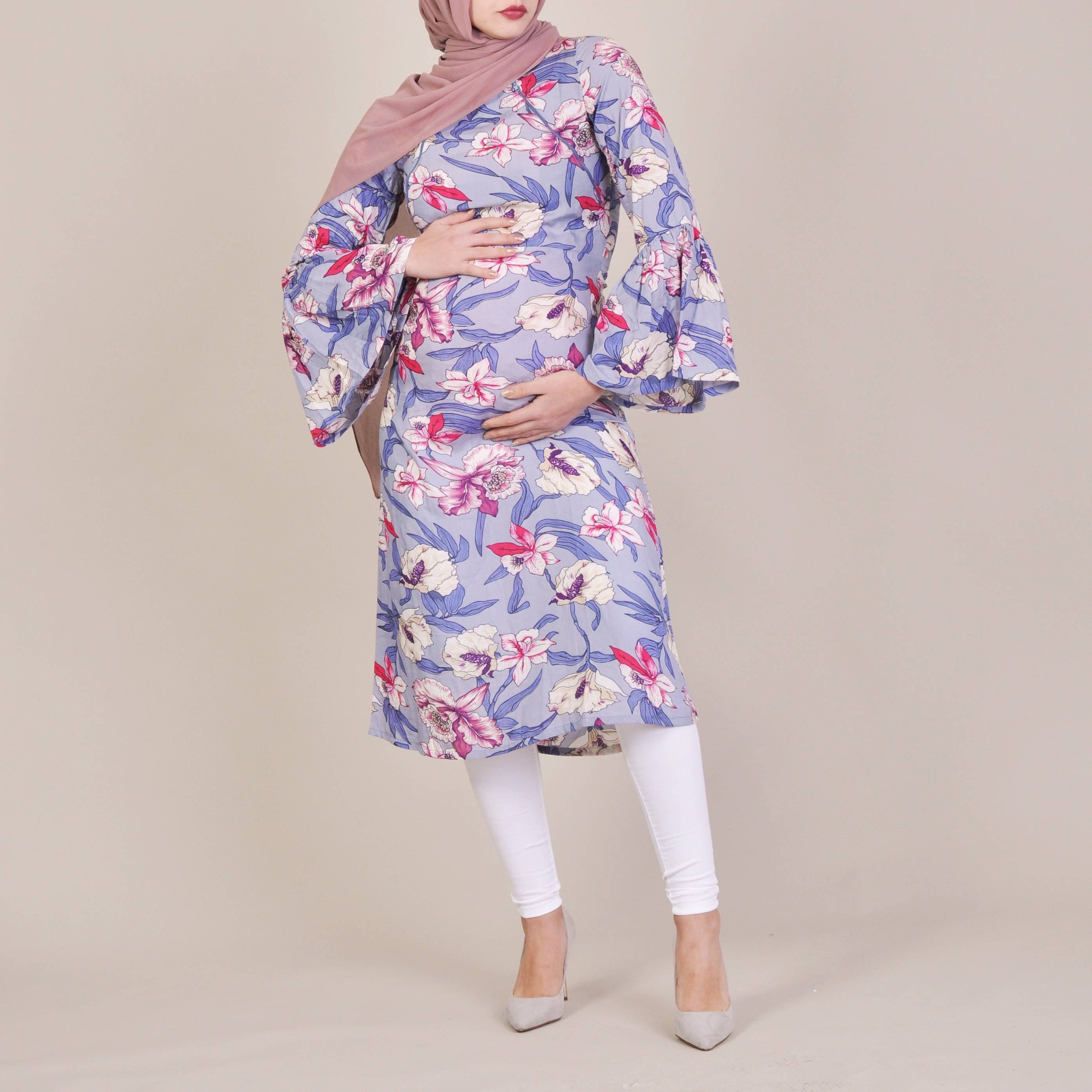 fef2801b77f8c Athena | Floral Printed Maternity Dress Shop Online | BIAH